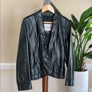 Vintage Casablanca unisex leather jacket